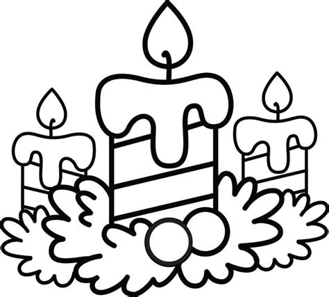 candle coloring page 2 new calendar template site