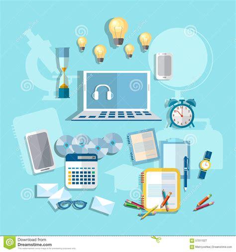 Desk Marketing Communication by Education Learning Student Desk Vector