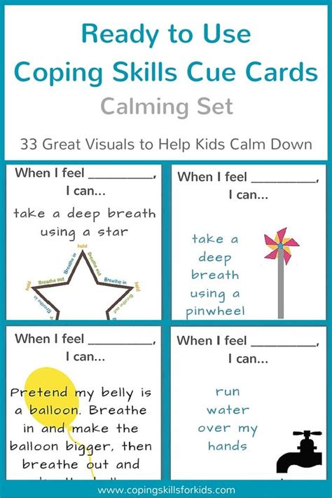 Coping Skills Cards Printable
