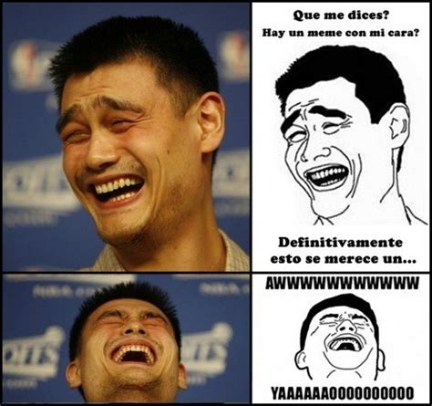 cual es el origen del meme de yao ming yahoo respuestas memedroid quot un meme con la cara del basketbolista