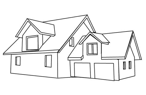 modern house coloring page coloring pages house7