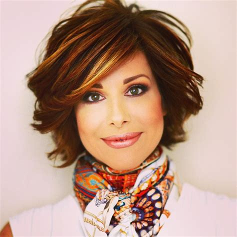 dominique sachse short bob hairstyle fall colors hair makeup pinterest hair style