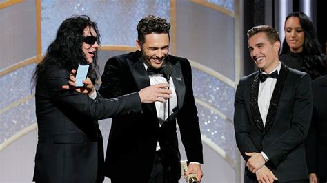 franco the room franco celebrates actor in comedy golden globe with wiseau variety