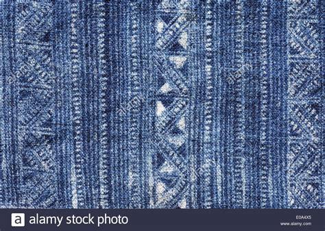 batik design vietnam blue indigo dyed batik cloth from vietnam stock photo