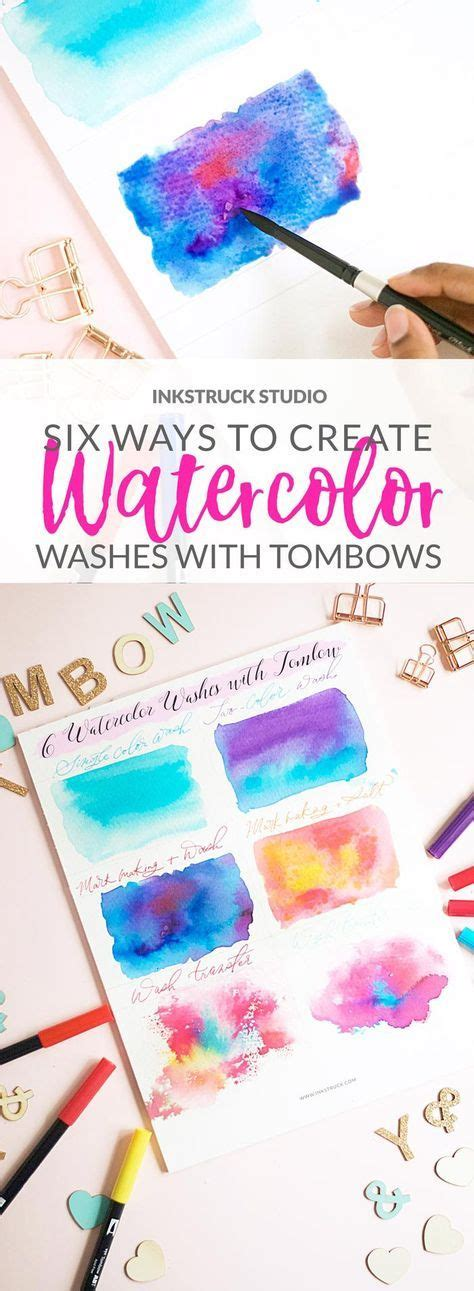 watercolor wash tutorial 215 best tombow techniques images on pinterest