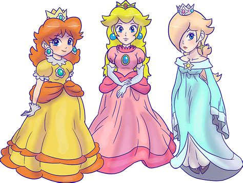 Sonic Wall Stickers quot princess peach rosalina and princess daisy quot stickers by