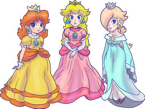 Super Mario Home Decor by Quot Princess Peach Rosalina And Princess Daisy Quot Stickers By Saradaboru Redbubble