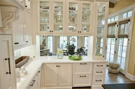 kitchen with glass cabinets decorating with glass cabinets doors brings light into