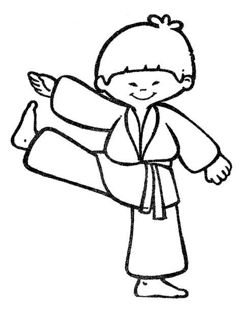 karate boy coloring page karate symbols cliparts co
