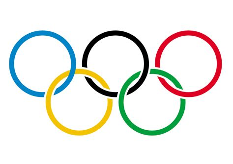 olympic rings on white free stock photo domain
