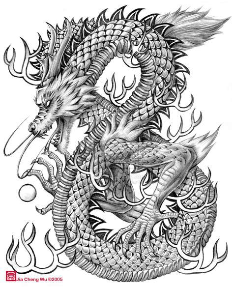 how to draw a chinese dragon head easy pencil drawing
