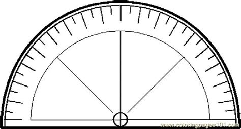 protractor print log protractor 1 coloring page free school coloring pages