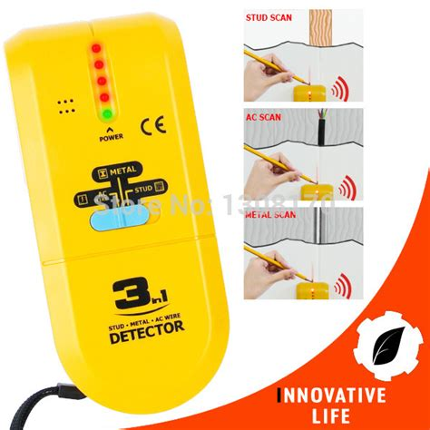 electric wire detector 3 in 1 detector find metal wood studs ac voltage live wire
