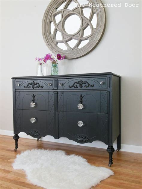 Black Glass Dresser by Hometalk A Black Dresser With Glass Knobs