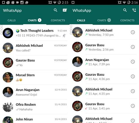 android whatsapp layout whatsapp for android gets material design update cleaner