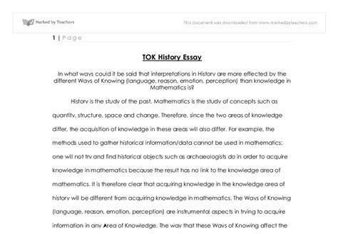 Tok Essay Sles by Ib Tok Essay Help