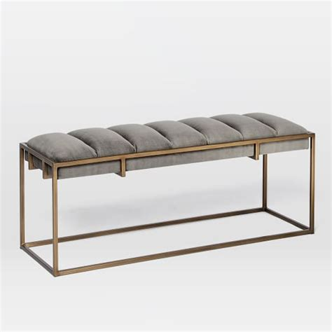 west elm upholstered bench fontanne bench west elm