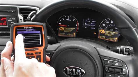 kia check engine warning light reset nt youtube