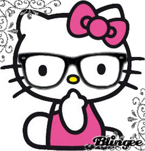 hello kitty nerd face wallpaper fancy hello kitty nerd picture 129009174 blingee com