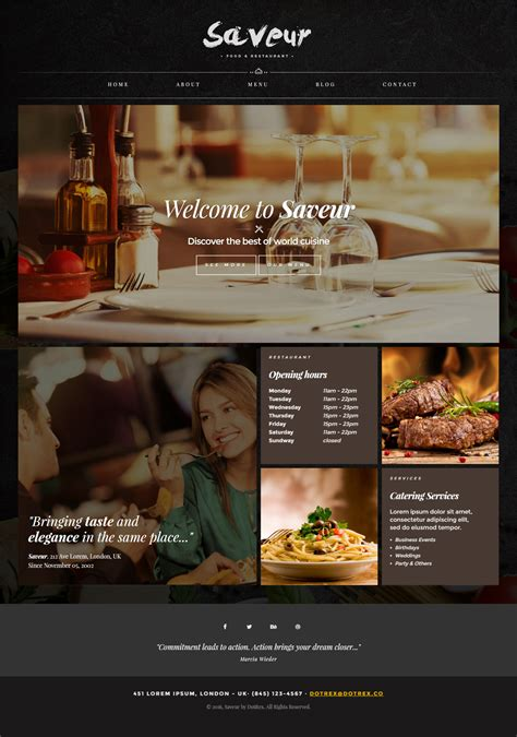 25 Best Cafe And Restaurant Website Templates In 2018 Responsive Miracle Best Restaurant Website Templates