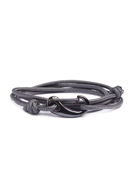 metal tactical slate gray gun metal tactical cord bracelet we are all smith