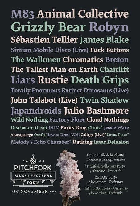 bazzi pitchfork pitchfork music festival paris 2012 paris line up photos
