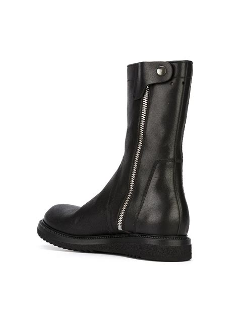 rick owens creeper boots in black for lyst