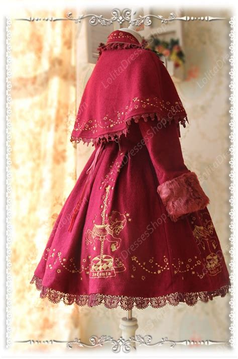 Rolex Coffie Sosweet Color Fashion cheap sweet cotten merry go with gold embroidered infanta cape coat sale