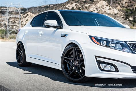 White Kia Optima Two Tone Black Wheels