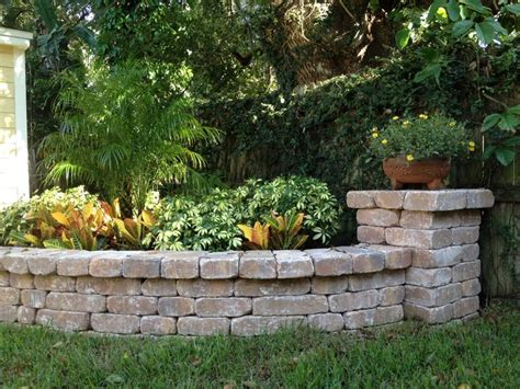 Planter Stones planter bench wall with column by stonecraft pavers fl landscape ideas