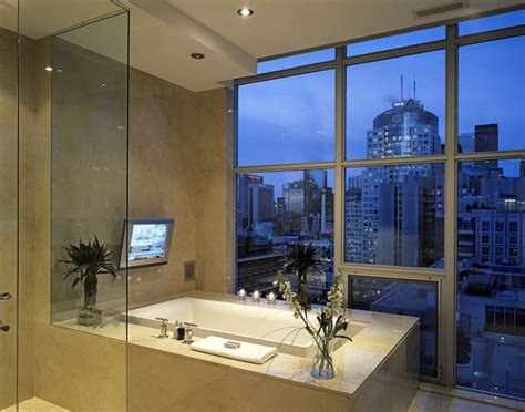 Bathroom Tv Ideas by Spectacular Bathroom Design With A View
