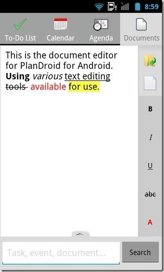 android text editor plandroid a note taking to do list task management app android
