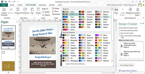 best color combinations from ms publisher 2013 quick tutorials for new features in publisher 2013