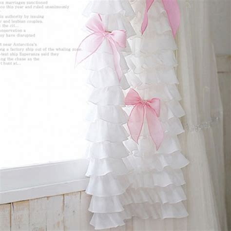 white ruffle window curtains ruffle curtain