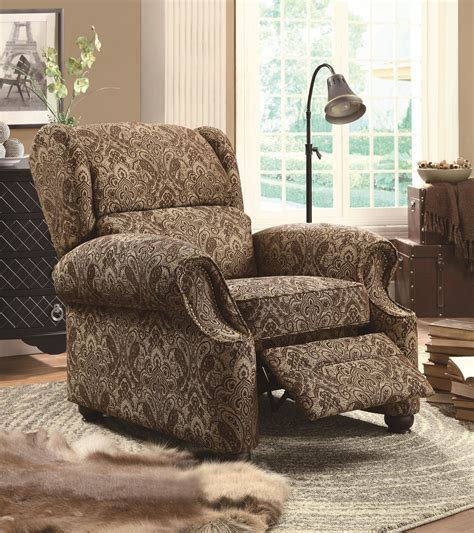 Beige Fabric Reclining Chair   Steal A Sofa Furniture