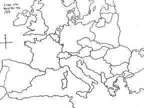 World War Ii Outline Map Of Europe by Blank Map Of Europe After Ww2