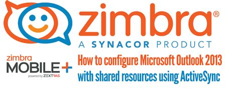 zimbra mobile zimbra mobile plus how to configure microsoft outlook