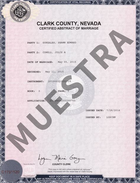 Reno Nevada Marriage Certificate Records Muestras De Certificados Nevada Document Retrieval Service