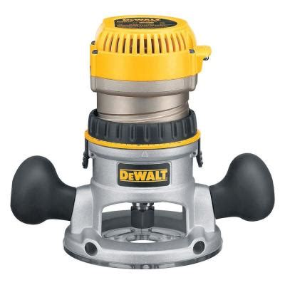dewalt 1 75 hp fixed base router dw616 the home depot