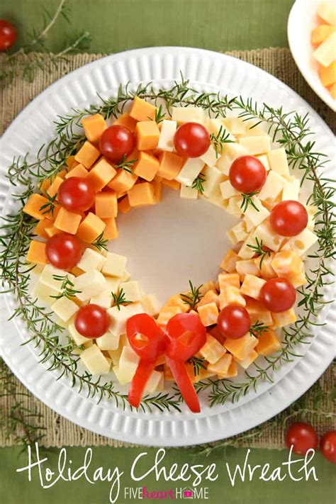 christmas wreath appetizers cheese wreath