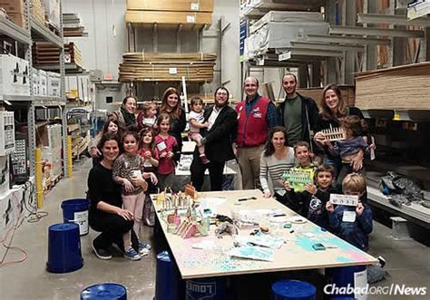 chanukah workshops abound at home improvement stores