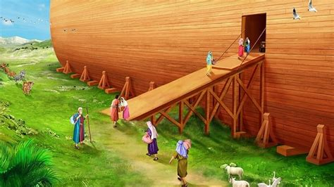 the genesis ark exiting the ark bible stories