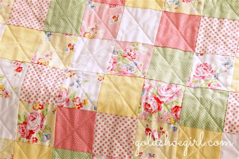 Patchwork For Babies - gold shoe patchwork baby quilt