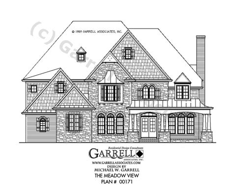 floor plan front view meadow view house plan craftsman house plans