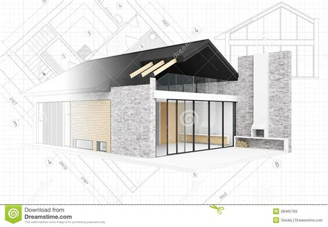 house project small modern house project stock illustration image of