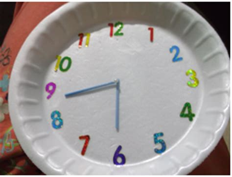 How To Make Clock Using Paper Plate - rokkam tata how to make a model clock with paper plate
