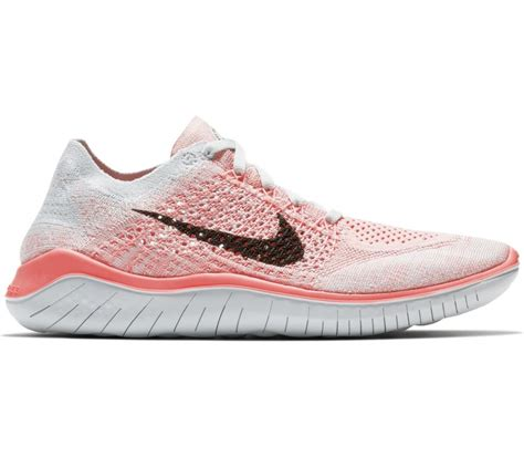 nike free rn flyknit 2018 s running shoes pink white buy it at the keller sports