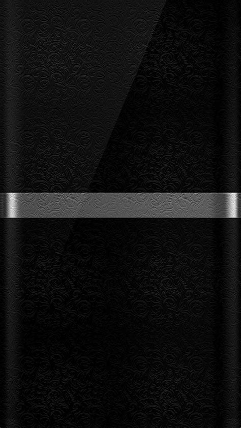 Dark S7 Edge Wallpaper 10 – Black Background and Silver