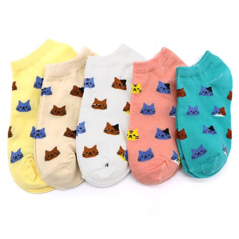 5pair new fashion socks ankle novelty sock animal invisible socks