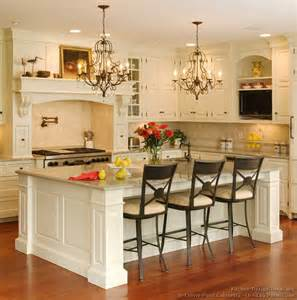 Traditional Kitchens With Islands by Pictures Of Kitchens Traditional Two Tone Kitchen